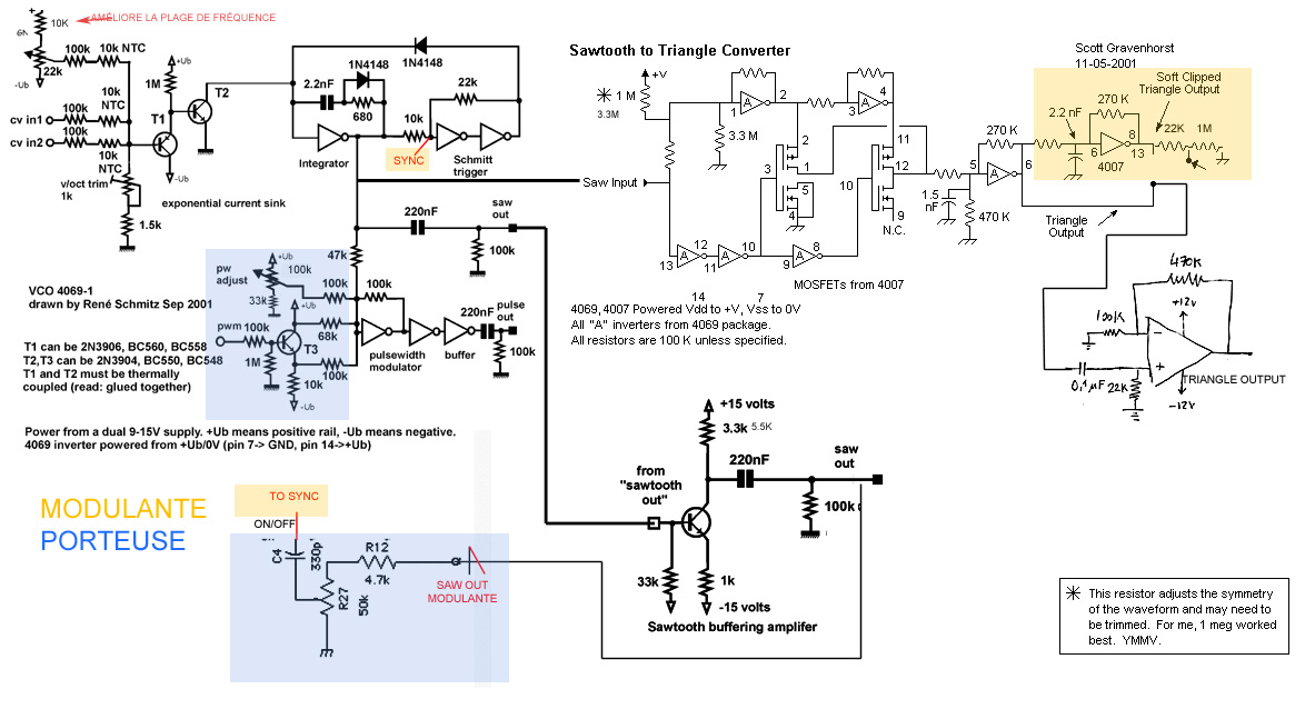 muff wiggler view topic rene s 4069 vco with ptc instead of ntc rh muffwiggler com VCO Circuit Design VCO 1V per Octave Schematic